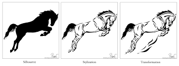 mustang horse silhouette horse silhouette stylization and transformation by damustang on