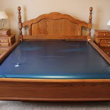 Water Bed Frames King Size Waterbed With Oak Frame Ebth
