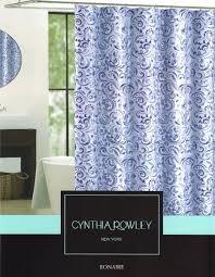 Cynthia Rowley Bathroom Cynthia Rowley Bonaire Paisley Scroll Print Fabric Shower Curtain