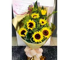 sunflower bouquets bouquet ipoh flower shop