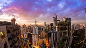 Chicago usa june 2016 aerial chicago illinois usa sunset trump
