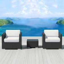 bistro 3pc sunbrella outdoor sectional sofa set