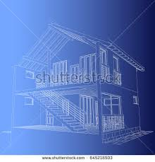 Residential Blueprints Blueprint Architectural Design Halftimbered Residential House
