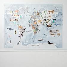 map mural watercolor map mural decal the land of nod