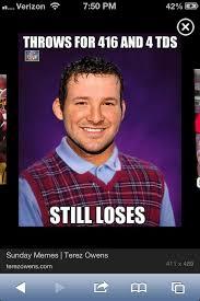 Tony Romo Meme Images - funny tony romo meme tony romo bad luck brian pinterest romo