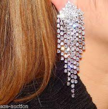 clip on chandelier earrings rhinestone chandelier fashion earrings ebay