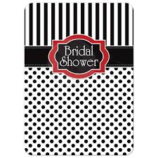 bridal shower invitation black white red polka dots u0026 stripes