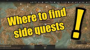 Map Wuest How To Find Side Quests On The Witcher 3 Youtube