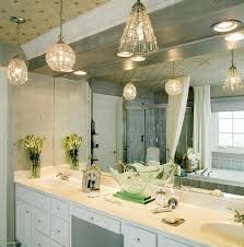 should vanity lights hang over mirror lighting mirror pendant light gorgeous glass ball disco ombreed