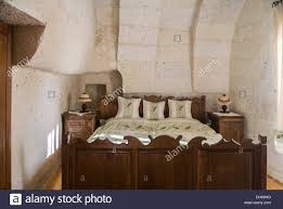 interior room of a troglodyte cave hotel bedroom goreme