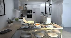 cuisine sur mesure lyon cuisine ouverte sur mesure à genas 69740 avec verriere lyon adc