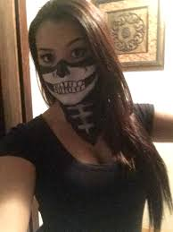 Halloween Face Paint Skeleton by Halloween Face Paint Skeleton Bandana Look My Own Creations