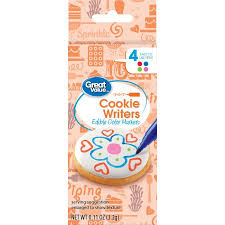 where to buy edible markers great value cookie writers edible color markers 4 count walmart