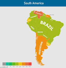 South America Map Labeled by How Fat Is Your Country And Which Nations Have The Highest