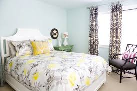 yellow and white bedroom gray and yellow bedding contemporary bedroom erinn v design