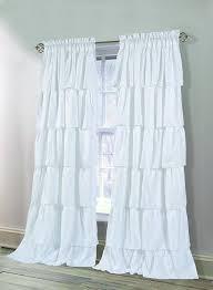 Black Ruffle Shower Curtain Interior White Ruffle Curtains White Ruffle Curtain Ruffled