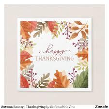 autumn bounty thanksgiving paper napkin