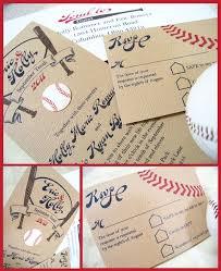baseball wedding invitations professional staff angela rawlins rsvp wedding and weddings