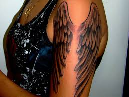 guardian angel tattoo on muscles real photo pictures images and