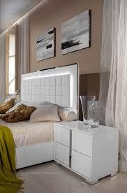 Modern White Bed Frames Modrest San Marino Modern White Bedroom Set