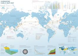 2007 World Map by Submarine Cable Map 2007