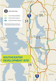 Link Light Rail Map Southcenter Development Site