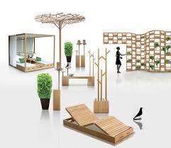 wooden outdoor furniture designs by deesawat green wall stick