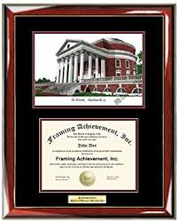 uva diploma frame buy of virginia uva lithograph college diploma frame