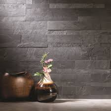 aspect 6 x 24 inch charcoal slate peel and stick stone backsplash