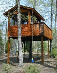 Backyard Treehouse Ideas Free Standing Tree House Plans Interior Design