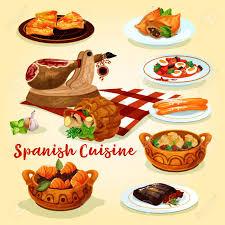 de cuisine espagnole plats de cuisine espagnole affiche de jambon ragoût de saucisse