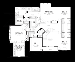 Floor Plans For Large Homes by Mascord House Plan 2441 The Anniston