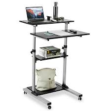 Height Of A Computer Desk Mount It Mobile Stand Up Desk Height Adjustable Computer Work