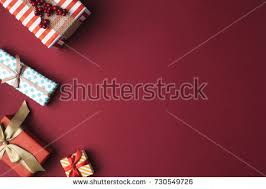 wrapped christmas boxes top view arranged wrapped christmas gift stock photo 730549726