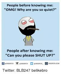 Why You So Meme - people before knowing me omg why are you so quiet people after
