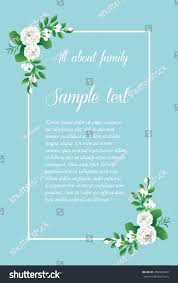 Vintage Wedding Invitation Cards Vintage Wedding Invitation Cardthai White Jasmine Stock Vector