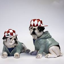 wear hat creative personality bulldog resin