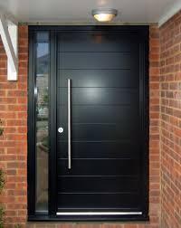 euro funkyfront contemporary entrance door frame 2 painted ral 9005 black kloeber 34669 jpg