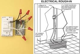 wiring an electric floor heating system electrical