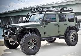 wrangler jeep green military green jeep wrangler by cec wheels hiconsumption