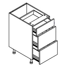 3 Drawer Base Cabinet White Lacquer J Design Rta Eurostyle Cabinets
