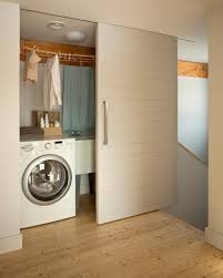 Frosted Closet Sliding Doors Frosted Closet Sliding Doors Laundry Room Contemporary With Wood