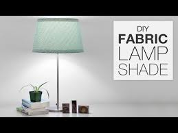 Diy Lamp Shade How To Cover A Lampshade With Fabric Diy Tutorial Youtube