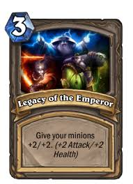 legacy of the emperor hearthstone cards