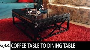 coffee table to dining table youtube
