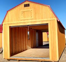 wk custom lofted barn garage 2 door portable garage 1 jpg