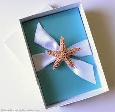 wedding invitations in a box starfish wedding invitations in a box diamond blue wedding