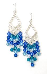 blue chandelier earrings swarovski s blue glacier chandelier earrings