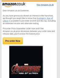 amazon dvd and blu ray black friday avengers 2 u0027 dvd to include extended edition and alternate ending