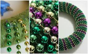 mardi gras bead wreath diy beaded mardi gras wreath heavily edited